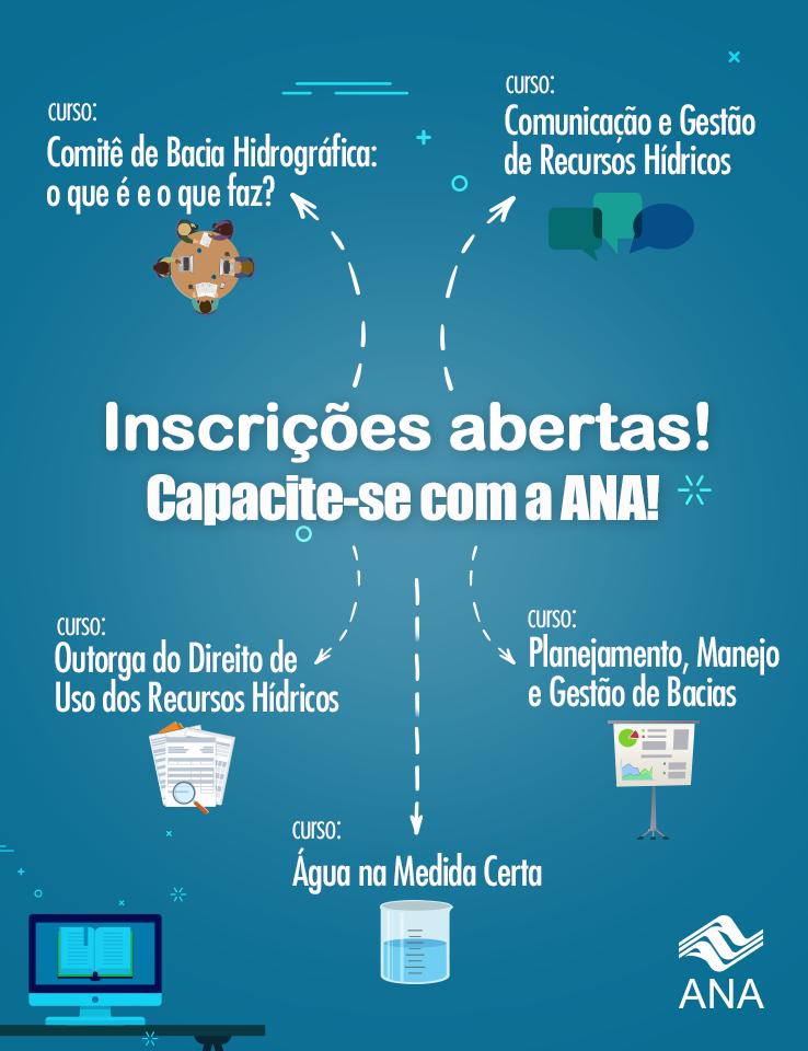 Abertas as inscrições para 5 cursos promovidos pela ANA