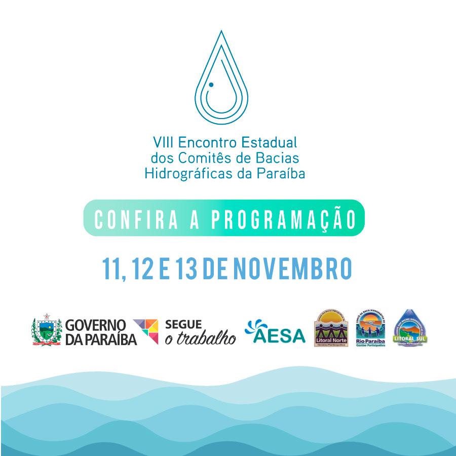 Divulgada a programação do VIII Encontro Estadual dos Comitês de Bacias Hidrográficas da Paraíba