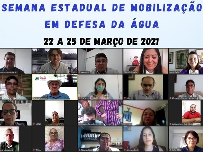 Apresentações da Semana Estadual de Mobilização em Defesa da Água estão disponíveis no canal Youtube